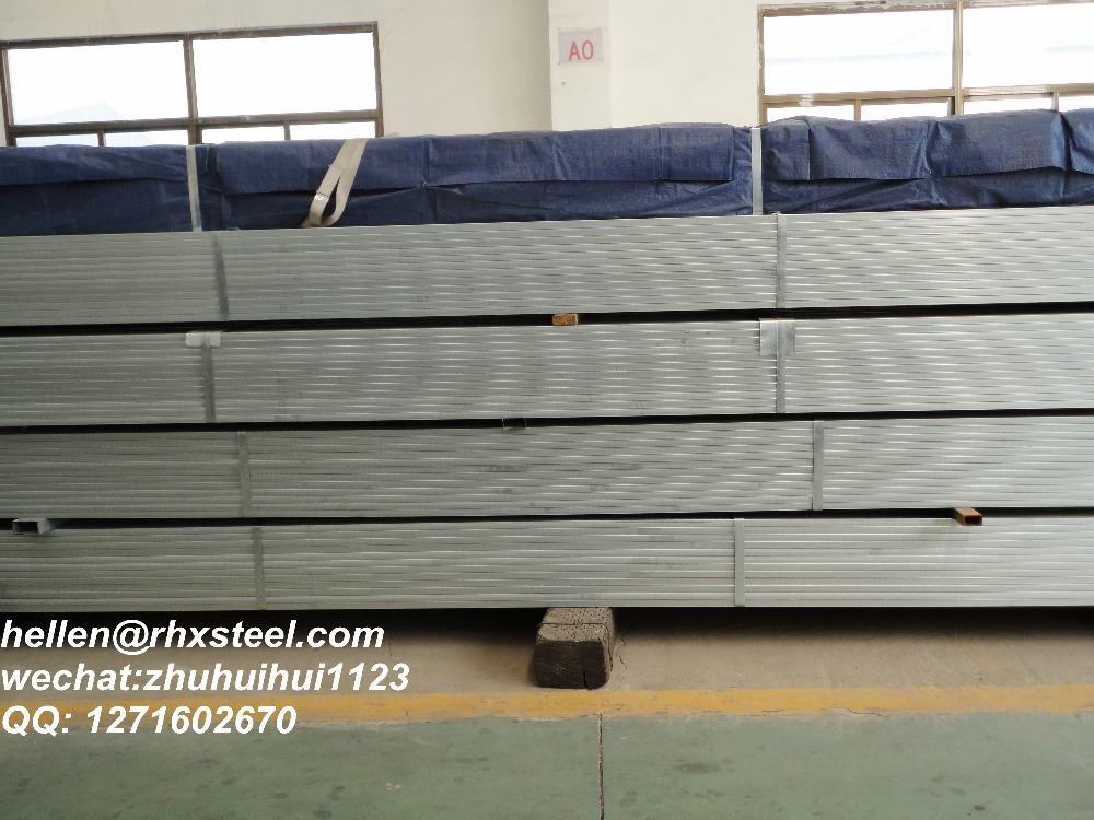 galvanized rectangular steel hollow construction steel pipes