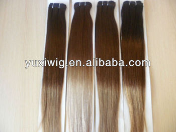 hgih quality beautiful sell best colored two tone hair weave