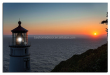 wholesale lighthouse wall art with LED,lighted up print canvas picture
