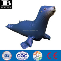 China factory pvc inflatable sea lion toys plastic custom made sea animals toys water pool toys for sale