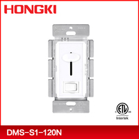 ETL approval single pole and 120V slide type led dimmer light switch