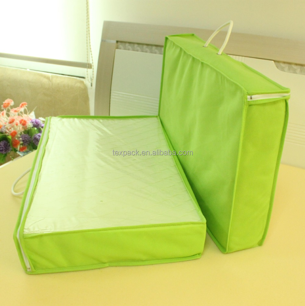 2016 new products non woven clear plastic PE / PVC mattress packaging bag