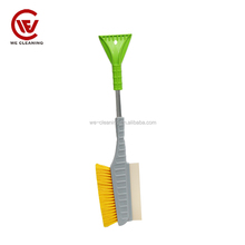 Plastic move snow keep clean silicone snow brush for car/folded car snow brush