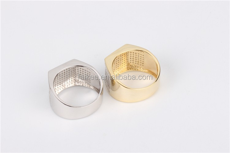 wholesale 925 silver hip hop jewelry mens ring iced out bing bing