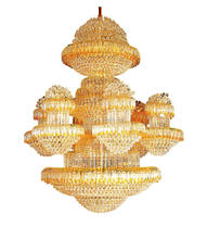 Gold color large hotel chandelier for discount