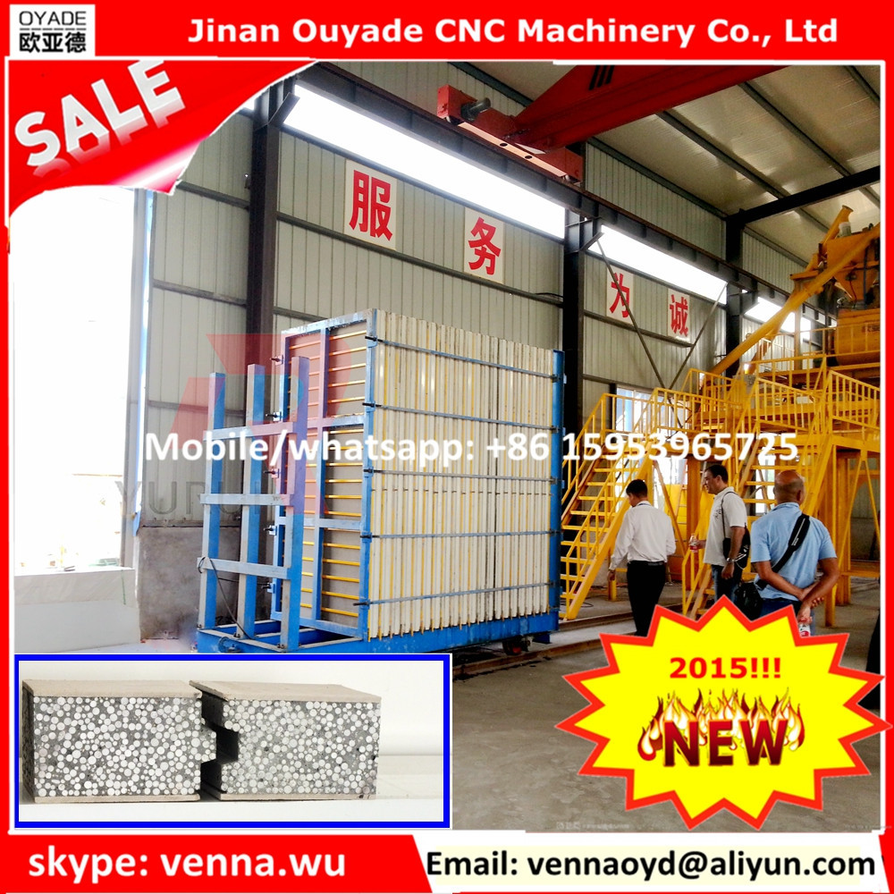 complete modular homes wall panels concrete foam production line