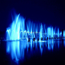 Outdoor high jumping jet nozzle LED light dancing music water fountain