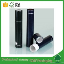 recycled natural paper toothpaste paper tube packaging black cylinder box for toothbrush, cosmetic, gift packaging tube OEM