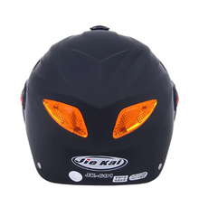 Motorcycle Adjustable Summer Half Face Helmet With Night Vision Reflector Lamp