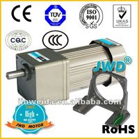 AC synchronous small electric gear motor 220V from 4W to 200W foot amount assembly