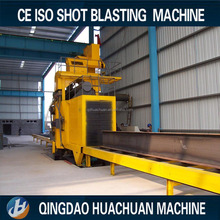 H beam steel roller conveyor shot blasting machine for removing rust
