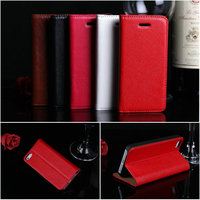 For iPhone 5C genuine leather case,lychee grain top layer leather case