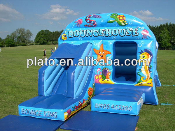 used commercial inflatable blue bouncers for sale for child