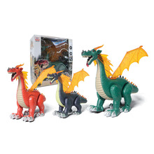 Electronic Plastic Toys Lay Eggs Walking Dinosaur Dragon with Wing