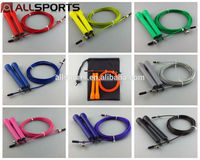 9 Colors Adjustable Cable Speed Jump Ropes / skipping rope for crossfit