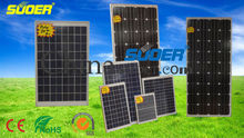 Suoer solar panel 30W 50W 150W solar cell module monocrystalline solar cells for home use