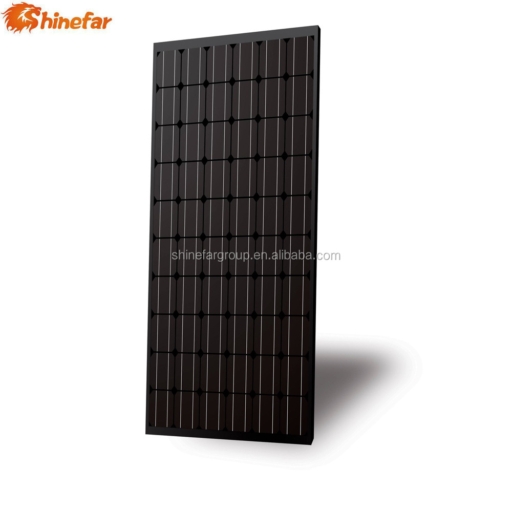 Eco-friendly all black mono 255 w placa solar and battery for solar pumping system