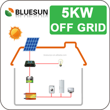 hot sale bluesun 5kw on-grid or off-grid complete home solar power system generator