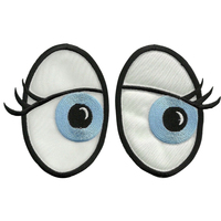 embroidery applique eyes for kids clothing