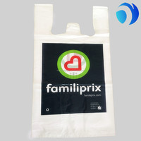 HDPE LDPE hot sale customzied logo print t-shirt bags for shpping and grocery use