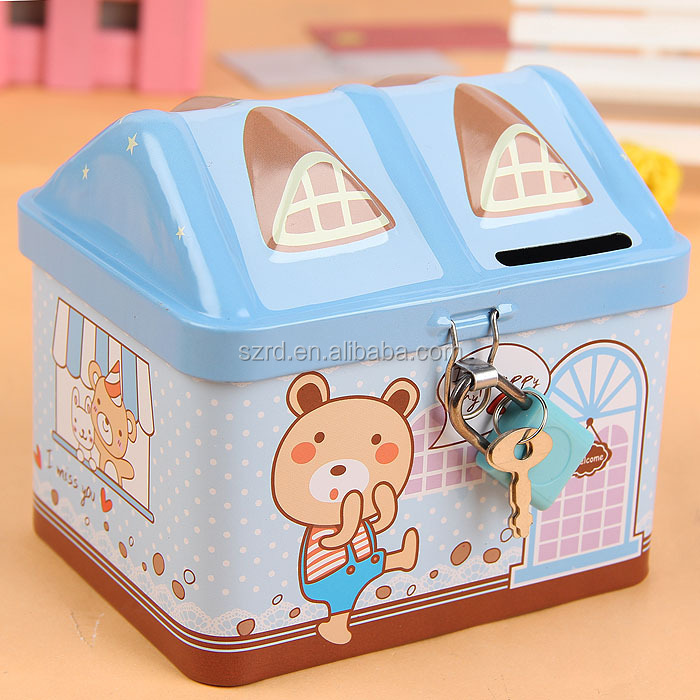 best sale tin money box/tin can money box/money saving box