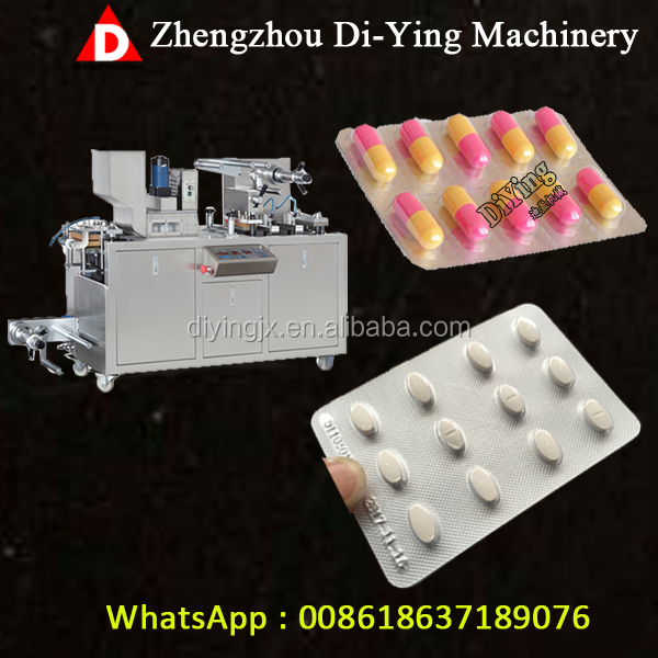 ALU PVC Pharmaceutical Pill Tablet Capsule Blister Packaging Machine