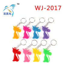 Small toys cartoon key ring, cat key chain