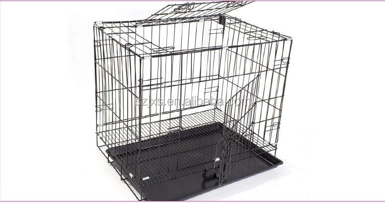 Foldable stainless steel big dog cage