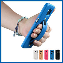 C&T Hand grip pu mobile phone accessories for samsung galaxy s6 pu back cover case