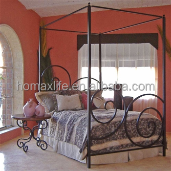 modern metal canopy bed design