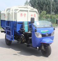 LUYING brand 2 cbm lorry truck used garbage trucks