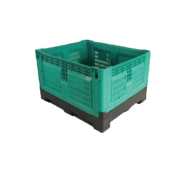 1210 plastic perforated container collapsible storage bin