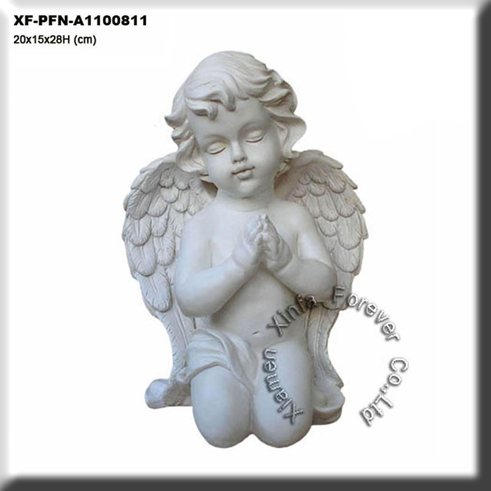 small western resin wing angel figurine for home decoration