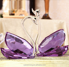 2015 Wedding Gift / Factory Price Crystal Glass Swan