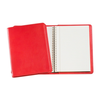 red soft cover spiral coil diary notebook