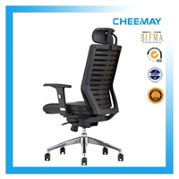 Modern hot leather executive office chair with wheels and armrests