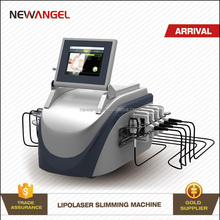 Body slimming 650nm diode home use laser fat removal equipment with painless treatment