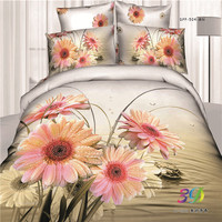 famous brand printed bed sheets set 100-percent cotton 4 pieces quilt cover sets