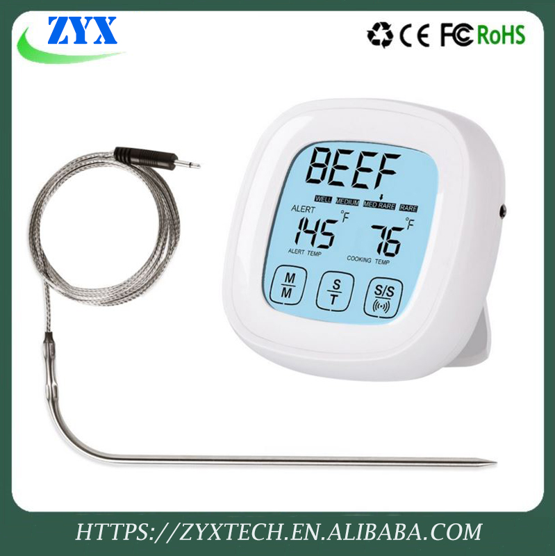 Cooking House Meat Digital Touchscreen Chicken Oven Thermometer Barbecue Timer Probe Food Grill FOR BBQ Precision Thermometers