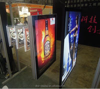 ceiling hanging poster frame double sided light box display