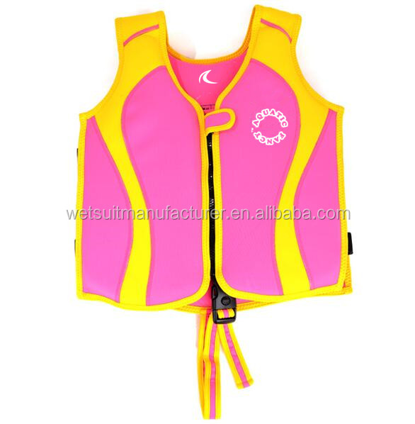 EPE Foam Neoprene Life Jacket Swim Vest Safety strap floatation swimwear for CHILD