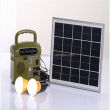 mini 10W inverter solar power system/portable solar generator/removal solar light kits for home