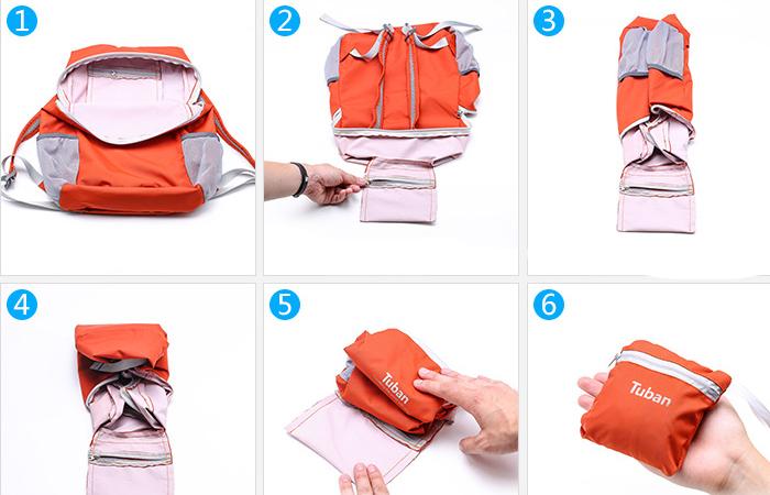 Top selling custom packable waterproof backpack lightweight folding travel backpack