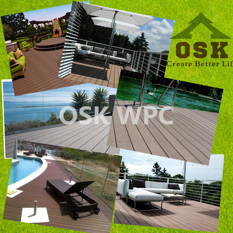 30mm*145mm wpc decking/ hollow composite decking wooden floor (OD-145H-30)
