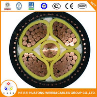 High voltage 4 core pvc insulated SWA armoured underground power cable
