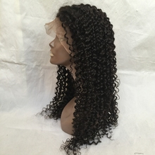 Afro Kinky Curly Wig Human Virgin Human Hair 130% Density sample free Lace Front Wig with Baby Hair