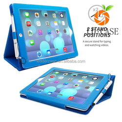 Protective and anti-damage case cover for Ipad Air 2 with auto sleep function