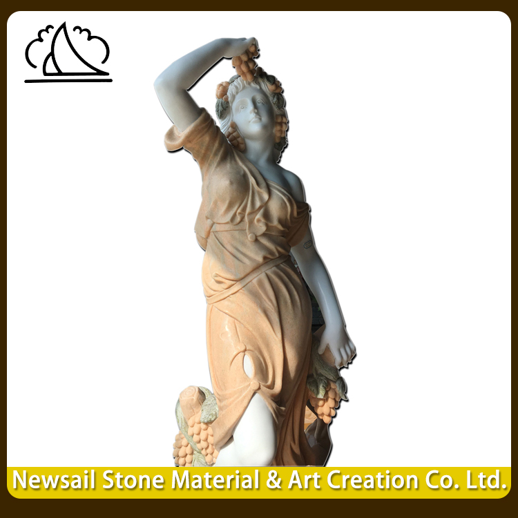 Best Selling Garden Stone Carving Famous Marble Woman Sculptures