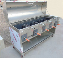 automatic rotary barbecue grill machine | rotary chicken grill machine/lamb leg barbecue grill machine