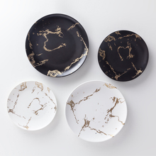 Porcelain Matte White Luxury Custom Gold Marble Dinner Charger <strong>Plate</strong>